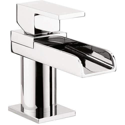 Crosswater Water Square Mini Basin Mixer Tap (Chrome).