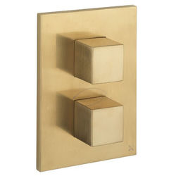 Crosswater Water Square Crossbox 3 Outlet Shower Valve (B Brass).