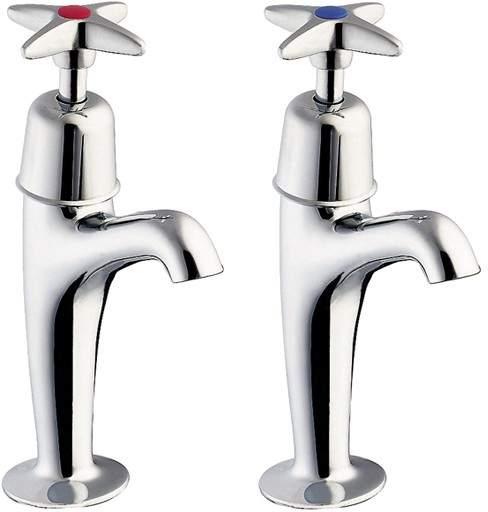 Deva Cross Handle High Neck Sink Taps (Pair).