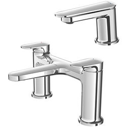 Methven Aio Basin & Bath Filler Tap Pack (Chrome).
