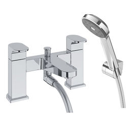 Methven Amio Bath Shower Mixer Tap With Kit (Chrome).