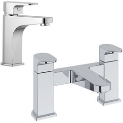 Methven Amio Basin & Bath Filler Tap Pack (Chrome).