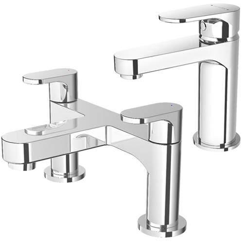 Methven Breeze Basin & Bath Filler Tap Pack (Chrome).