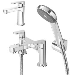 Methven Breeze Basin & Bath Shower Mixer Tap Pack With Kit (Chrome).