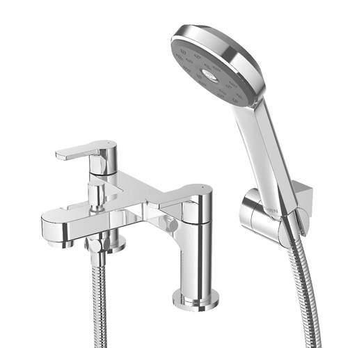 Methven Cari Bath Shower Mixer Tap With Kit (Chrome).