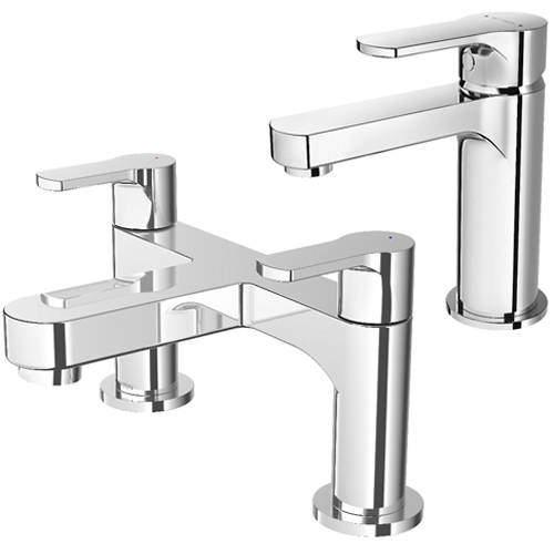 Methven Cari Basin & Bath Filler Tap Pack (Chrome).