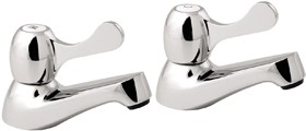 Deva Lever Action Lever Basin Taps (Pair).
