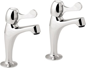 Deva Lever Action Lever High Neck Sink Taps (Pair).