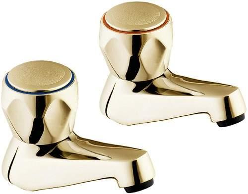 Deva Profile Bath Taps (Gold, Pair).