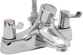 Deva Thermostatic TMV2 Thermostatic Bath Shower Mixer Tap With Shower Kit.