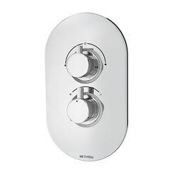 Methven Kaha Concealed Thermostatic Mixer Shower Valve (ABS, 2 Outlets).