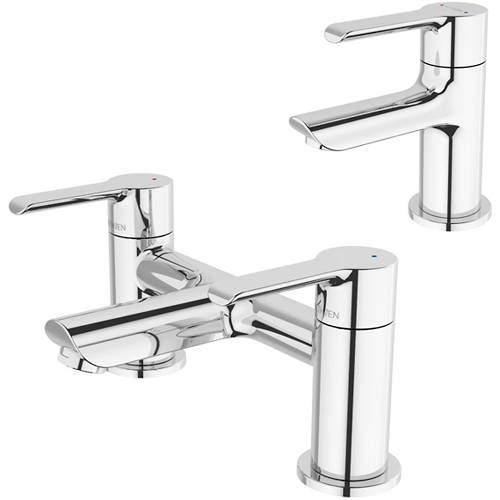 Methven Kea Basin & Bath Filler Tap Pack (Chrome).