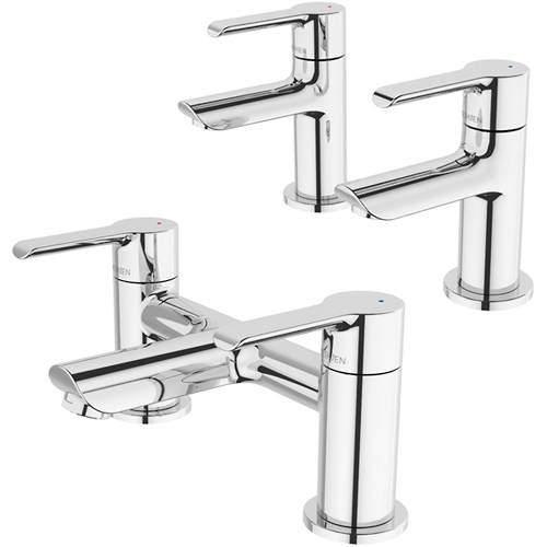 Methven Kea Basin Taps & Bath Filler Tap Pack (Chrome).