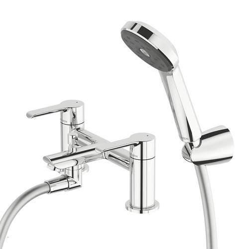 Methven Kea Bath Shower Mixer Tap With Kit (Chrome).