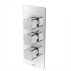 Methven Kiri Concealed Thermostatic Mixer Shower Valve (Chrome, 3 Outlets).