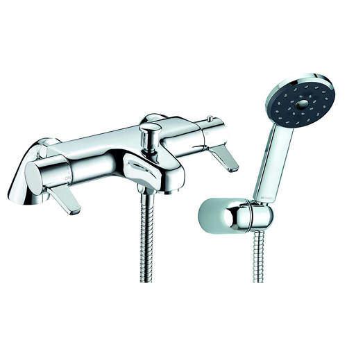 Methven Kiri Satinjet Thermostatic Bath Shower Mixer Tap With Shower Kit.