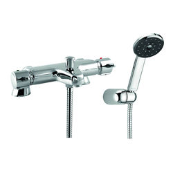 Deva Lever Action Thermostatic Bath Shower Mixer Tap With Shower Kit.