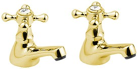 Deva Tudor Bath Taps (Pair, Gold).