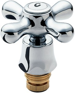 Deva Spares Conversion Tap Heads Kit With Pair Of Chrome Handles. BS5412.