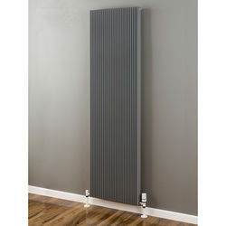 EcoHeat Hadlow Vertical Aluminium Radiator 1526x560 (Window Grey).