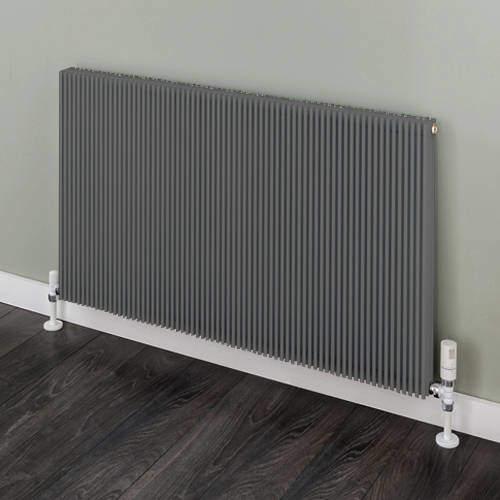 EcoHeat Hadlow Horizontal Aluminium Radiator 526x1120 (Grey).