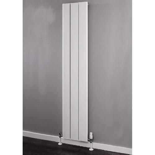 EcoHeat Radcliffe Vertical Aluminium Radiator 1500x596 (White).