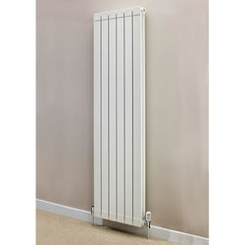 EcoHeat Saxon Vertical Aluminium Radiator & Brackets 1846x420 (White).