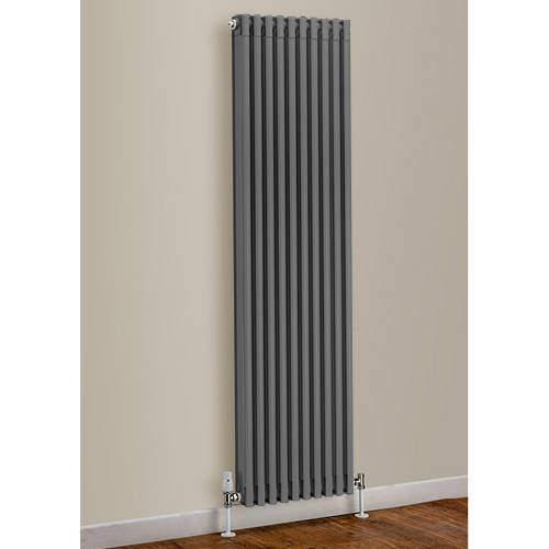 EcoHeat Woburn Vertical Aluminium Radiator 1470x520 (Window Grey)