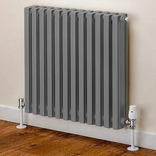EcoHeat Woburn Horizontal Aluminium Radiator 668x420 (Window Grey)