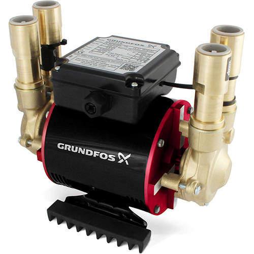 Grundfos Pumps STP-3.0B Twin Ended Shower Pump (3.0 Bar, Positive).