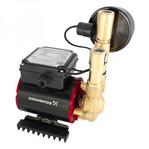 Grundfos Pumps SSN-3.0B Single Ended Shower Pump (3.0 Bar, Universal).