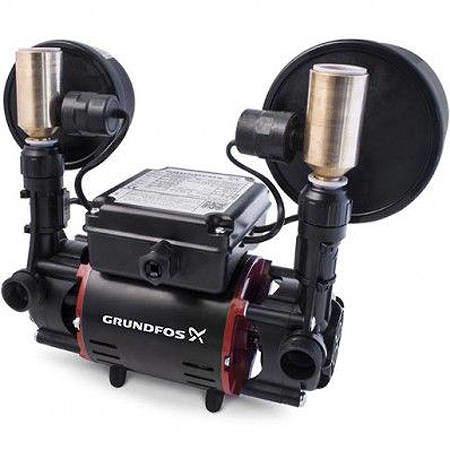 Grundfos Pumps STR2-1.5CN Twin Ended Shower Pump (1.5 Bar, Universal).