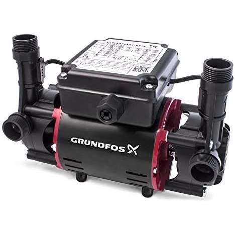Grundfos Pumps STR2-2.0C Twin Ended Shower Pump (2.0 Bar, Positive).