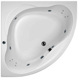 Hydrabath Laguna Corner Turbo Whirlpool Bath With 14 Jets & Panel, 1450x1450.