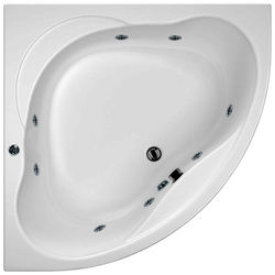 Hydrabath Laguna Corner Whirlpool Bath With 8 Jets & Panel, 1450x1450mm.