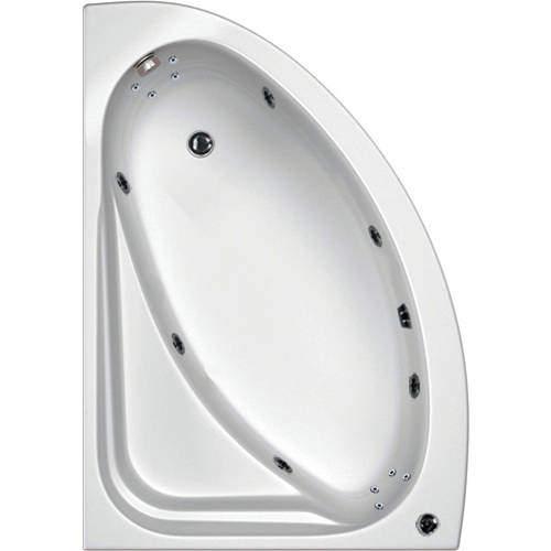 Hydrabath Orlando LH Corner Whirlpool Bath With 14 Jets & Panel, 1500x1040.