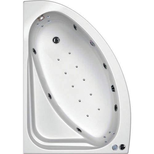 Hydrabath Orlando LH Corner Whirlpool Bath With 24 Jets & Panel, 1500x1040.