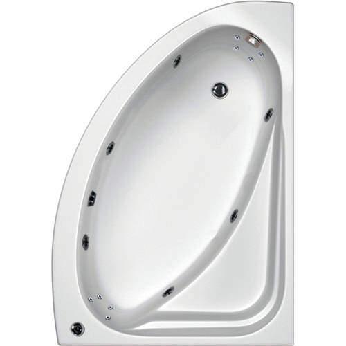 Hydrabath Orlando RH Corner Whirlpool Bath With 14 Jets & Panel, 1500x1040.