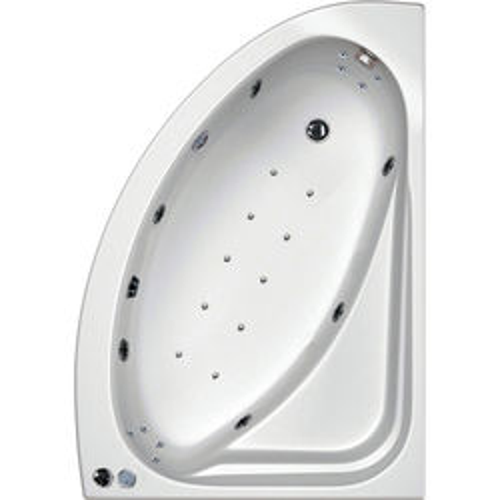 Hydrabath Orlando RH Corner Whirlpool Bath With 24 Jets & Panel, 1500x1040.