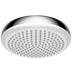 Hansgrohe Crometta 180 1 Jet Shower Head (180mm, White & Chrome).