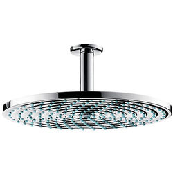 Hansgrohe Raindance S 300 Air 1 Jet Shower Head & Arm (300mm, EcoSmart).