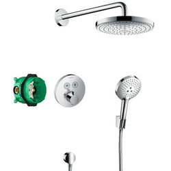 Hansgrohe Shower Set With Valve, Raindance Head & Select Handset.