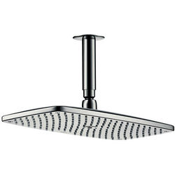 Hansgrohe Raindance E 360 1 Jet Shower Head & Arm (Brush Black Chrome).