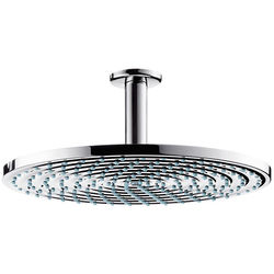 Hansgrohe Raindance S 300 Air 1 Jet Shower Head & Arm (300mm, Chrome).