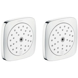 Hansgrohe 2 x Body Jets - Body Shower 100 (White & Chrome).