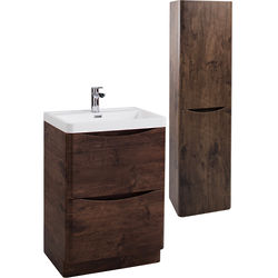 Italia Furniture Bali Bathroom Furniture Pack 04 (Chestnut).