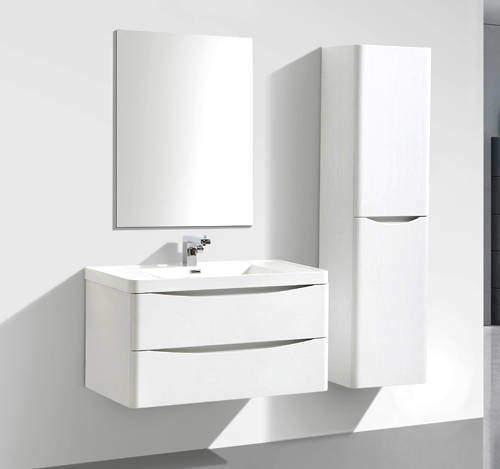 Italia Furniture Bali Bathroom Furniture Pack 01 (Gloss White).