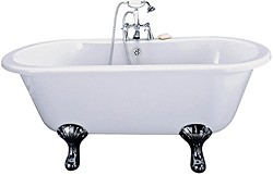 Hydra Grosvenor Double Ended Roll Top Bath With Traditional Feet.  1500mm.