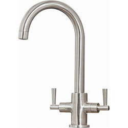 Hydra Bruges Kitchen Tap With Swivel Spout (Brushed Steel).