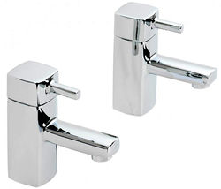 Hydra Chester Pair Of Basin Taps (Chrome).